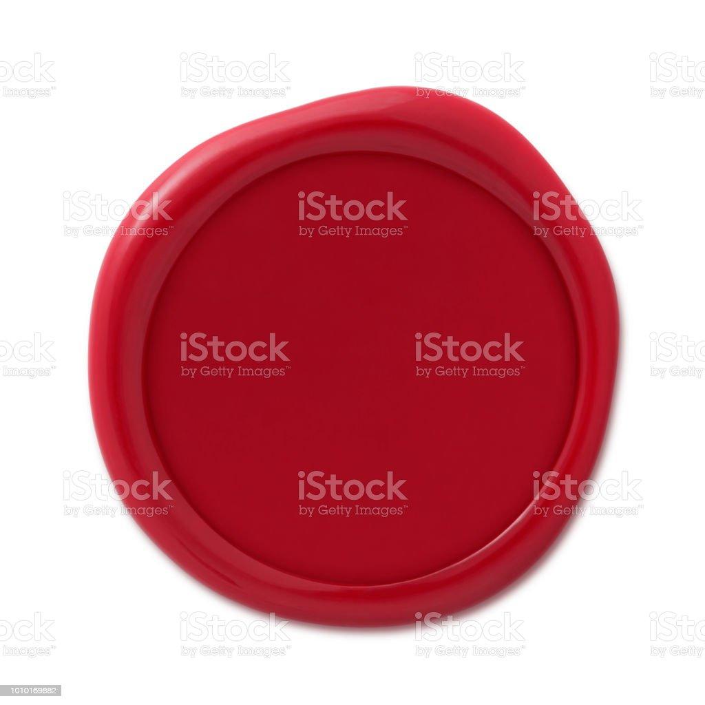 Kırmızı mum mühür damgası (yolu ile) stok fotoğrafı