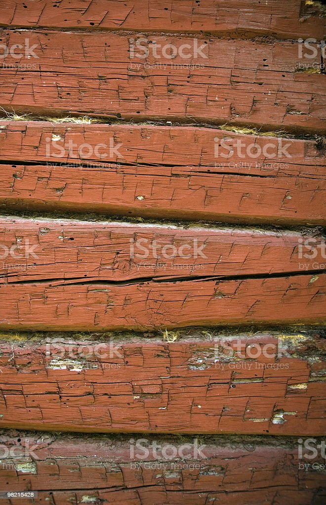 red weathered timbered wall royalty-free stock photo