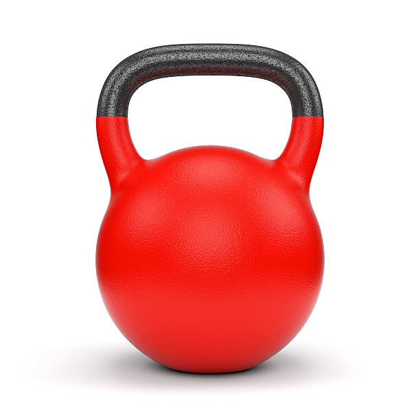 red weight kettle bell - dumbbell stock pictures, royalty-free photos & images