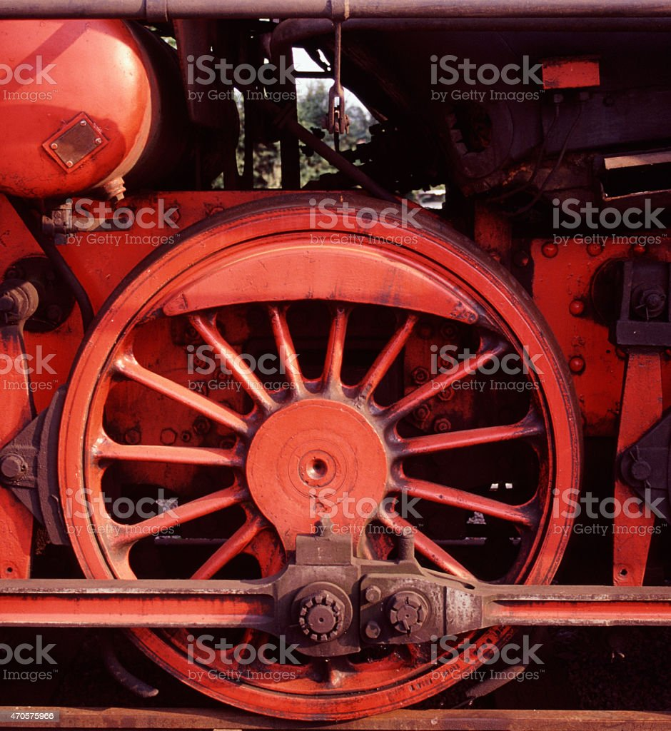Red Wheel stock photo