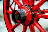 Red Wheel horse drawn fire engine