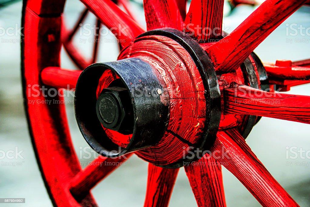 Red Wheel stock photo