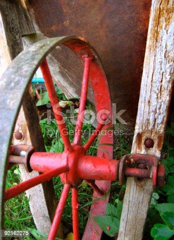 istock Red Wheelbarrow 92162275