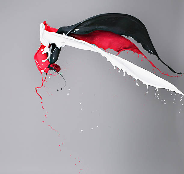 Rot, Weiß und Schwarz, Farbe Zusammenstoßen – Foto