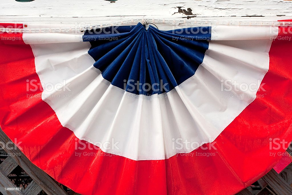 Red, White and Blue Banner royalty-free stock photo