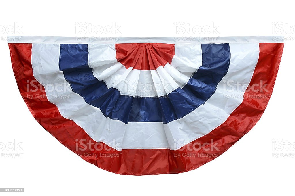 Red White and Blue Banting stock photo