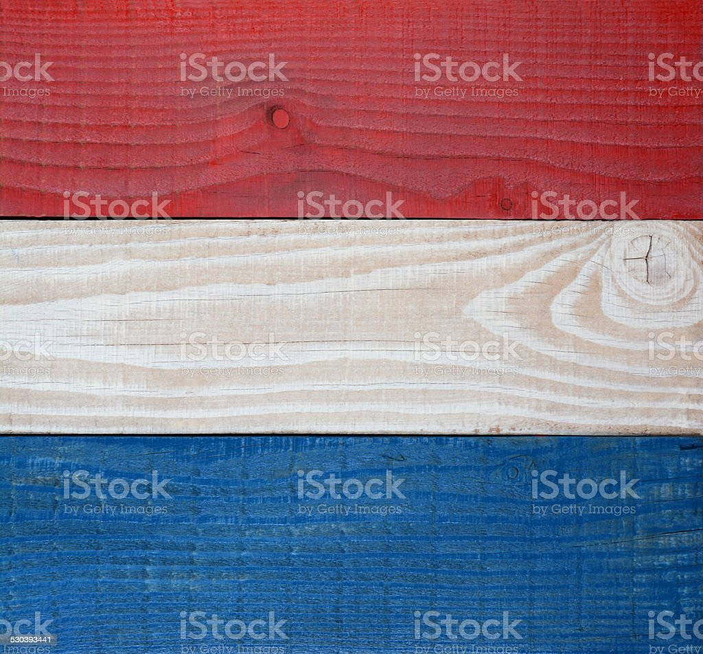 Red White and Blue Boards Background stock photo