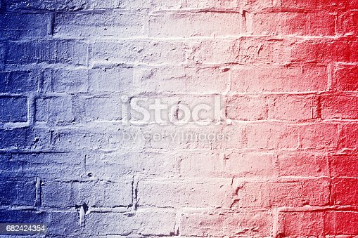 680789648 istock photo Red White and Blue Brick Wall Background Texture 682424354