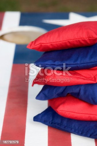 Red White And Blue Cornhole Set Stock Photo Amp More