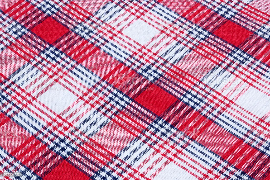 Red, White And Blue Cotton Gingham Tablecloth Pattern Royalty Free Stock  Photo