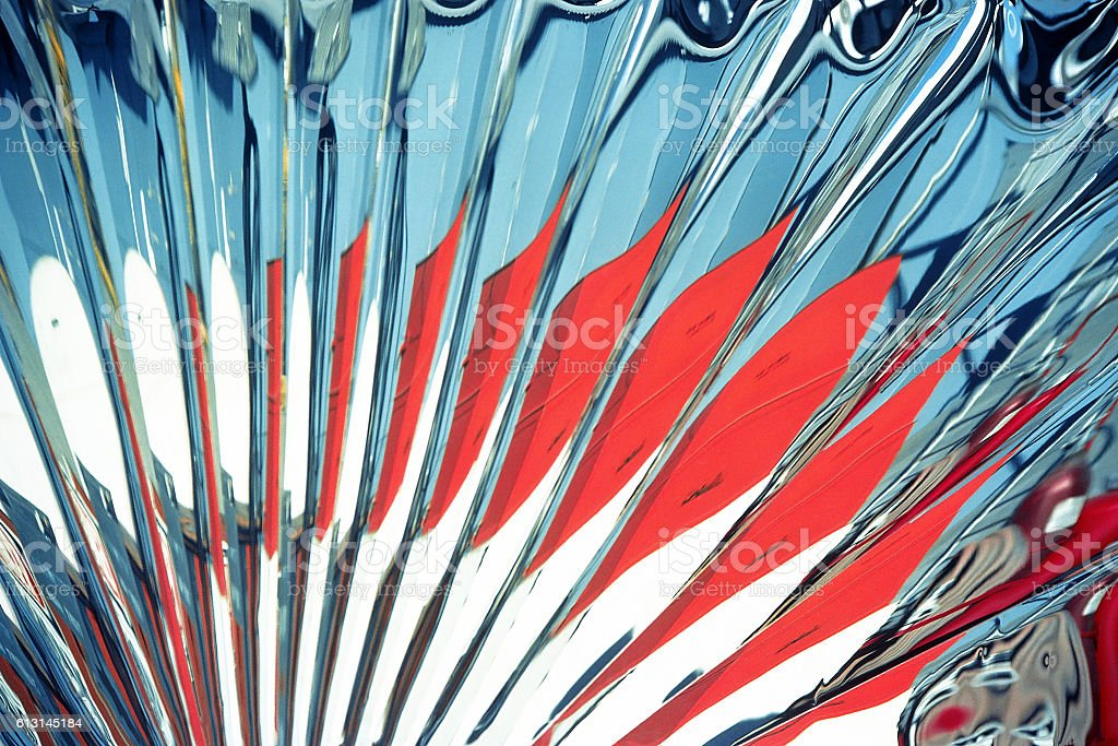 red, white and blue fan abstract stock photo