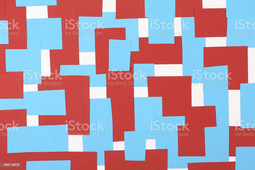 Red White and Blue Paper Background royalty-free stock photo
