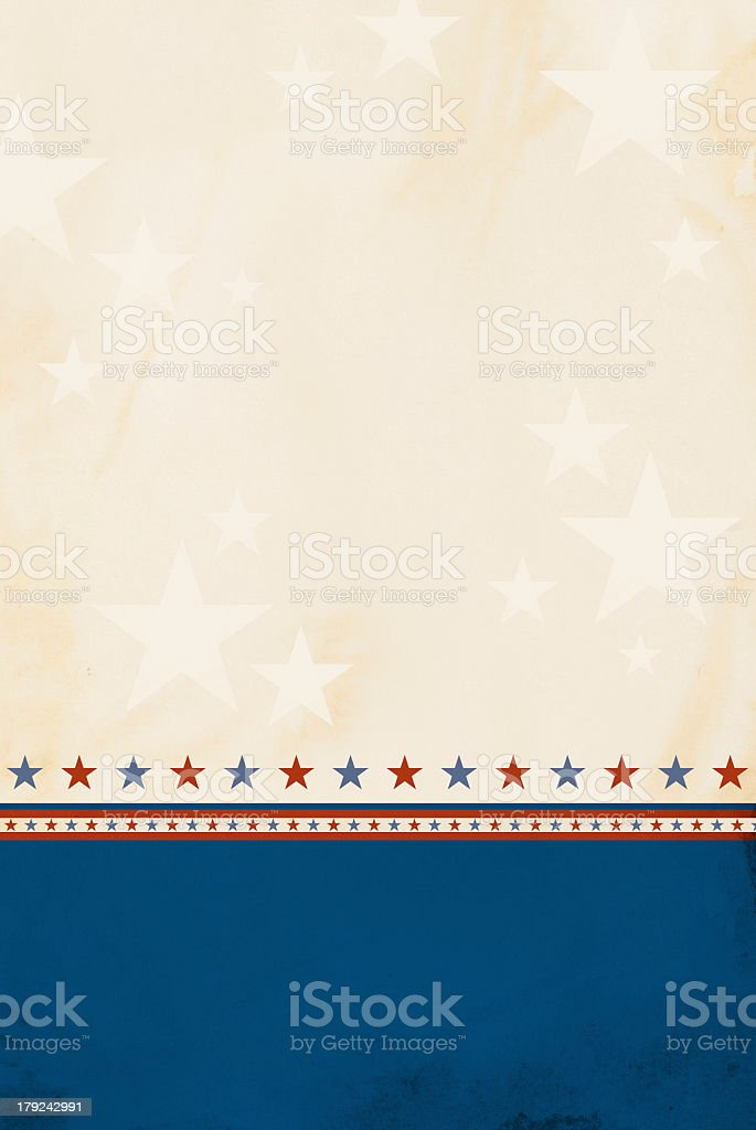 Red white and blue patriotic background stock photo