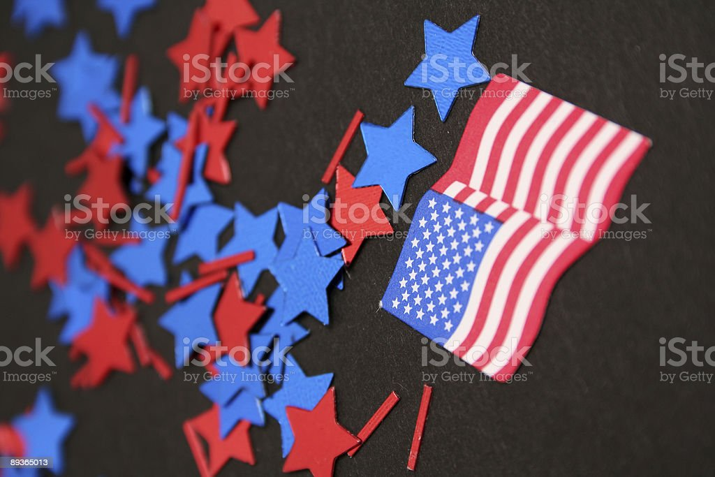 Red white and Blue royalty free stockfoto
