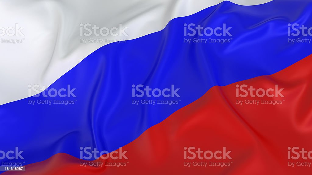 A red white and blue Russian flag royalty-free stock photo