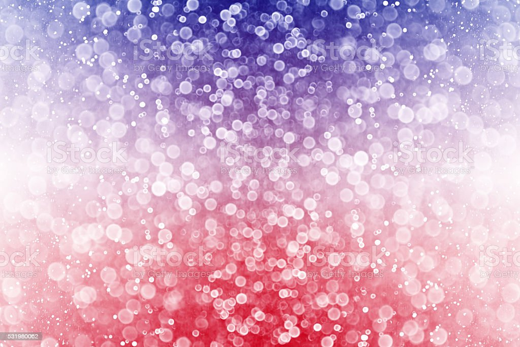 Red White and Blue Sparkle Background stock photo