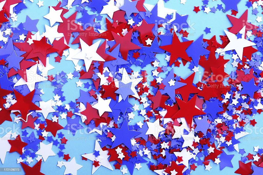 Red, white, and blue stars! royalty-free stock photo