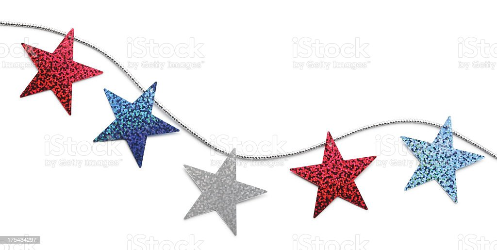 Red White and Blue Stars stock photo