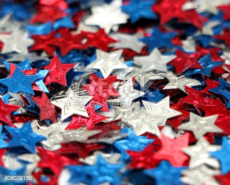 508026042 istock photo Red, White and Blue Stars 508026130