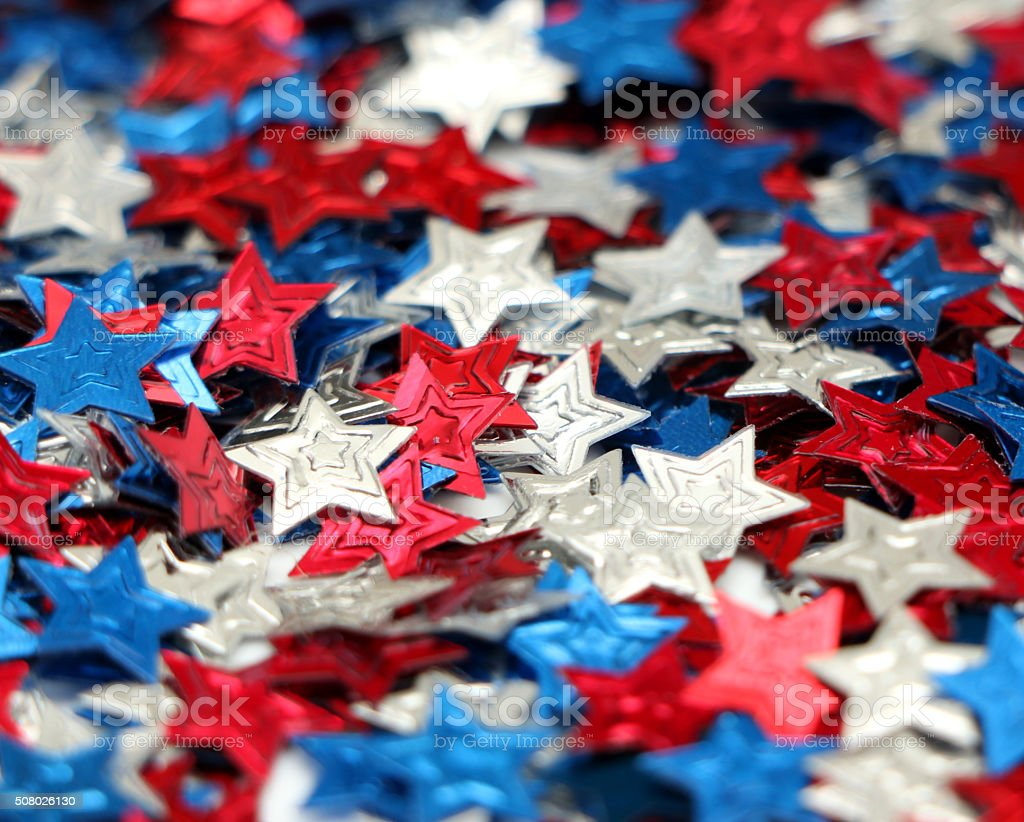 Red, White and Blue Stars stock photo