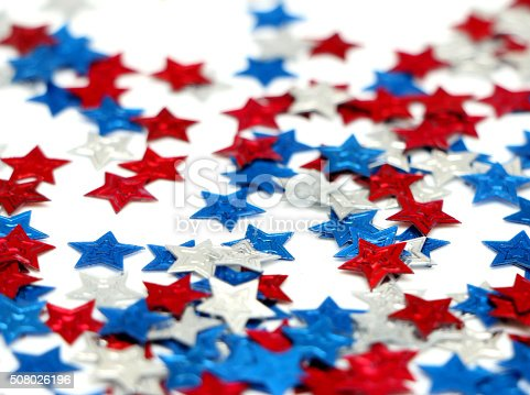 508026042 istock photo Red, White and Blue Stars 508026196