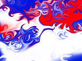 Red White and Blue Swirly Patriotic American Background Art