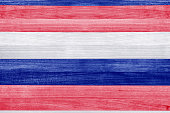 Patriotic red white and blue stripes wood texture pattern