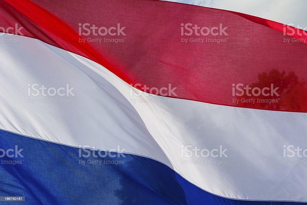 Rojo, azul y blanco de la bandera nacional de los países bajos - foto de stock