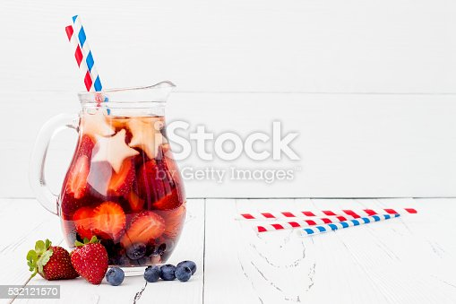 istock Red, White, Blue cocktail for 4th of July party 532121570