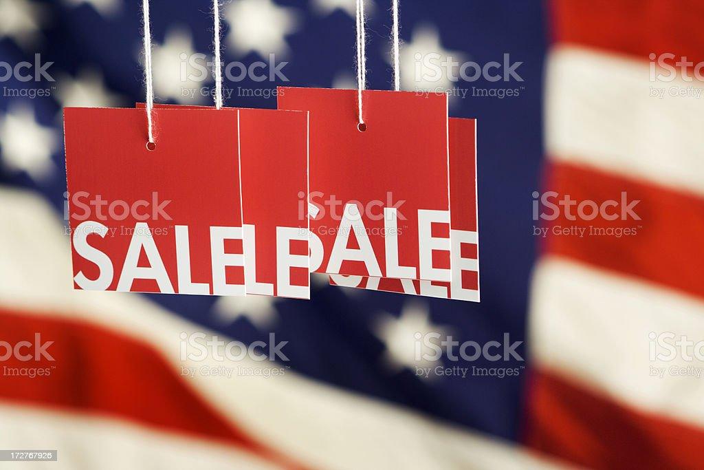 Red White & Blue Sale Hz stock photo