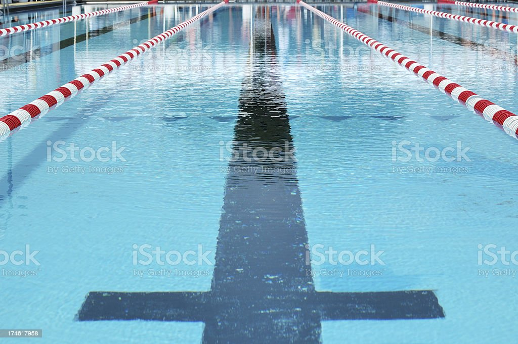 Red White Blue - Water and Swimming Lane Marker royalty-free stock photo