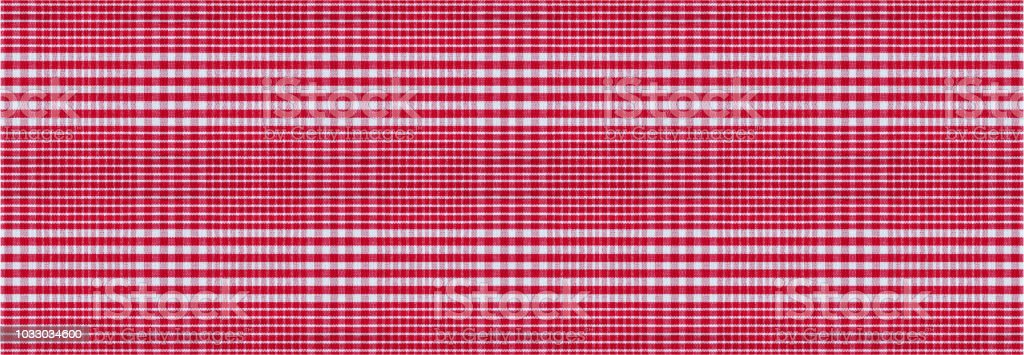 Red White Checkered Picnic Tablecloth Texture Background Banner