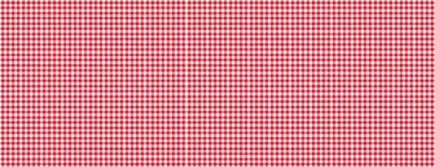 rot weiß karierten picknick tischdecke textur hintergrund, banner - karo stock-fotos und bilder