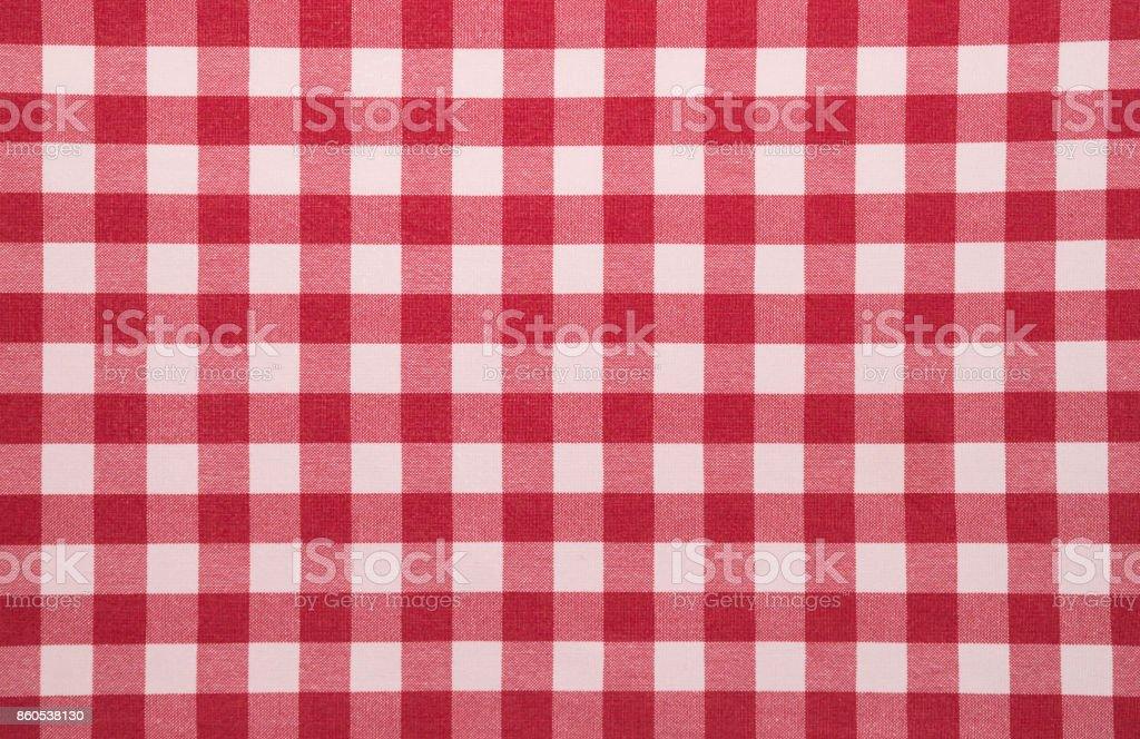 Rot weiß karierten Tischdecke Hintergrund – Foto
