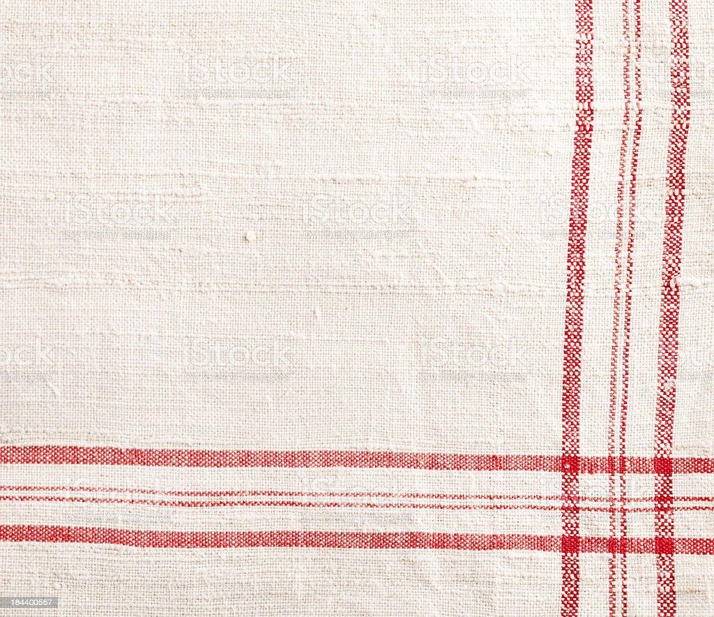 red white dishtowel textile texture royalty-free stock photo