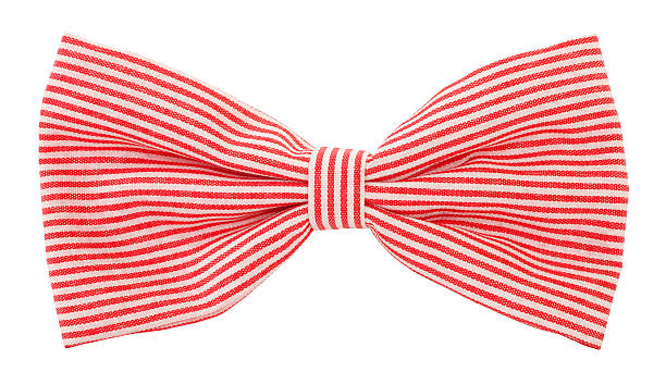 Red white striped bow tie This is a lovely striped bow tie. bow tie stock pictures, royalty-free photos & images