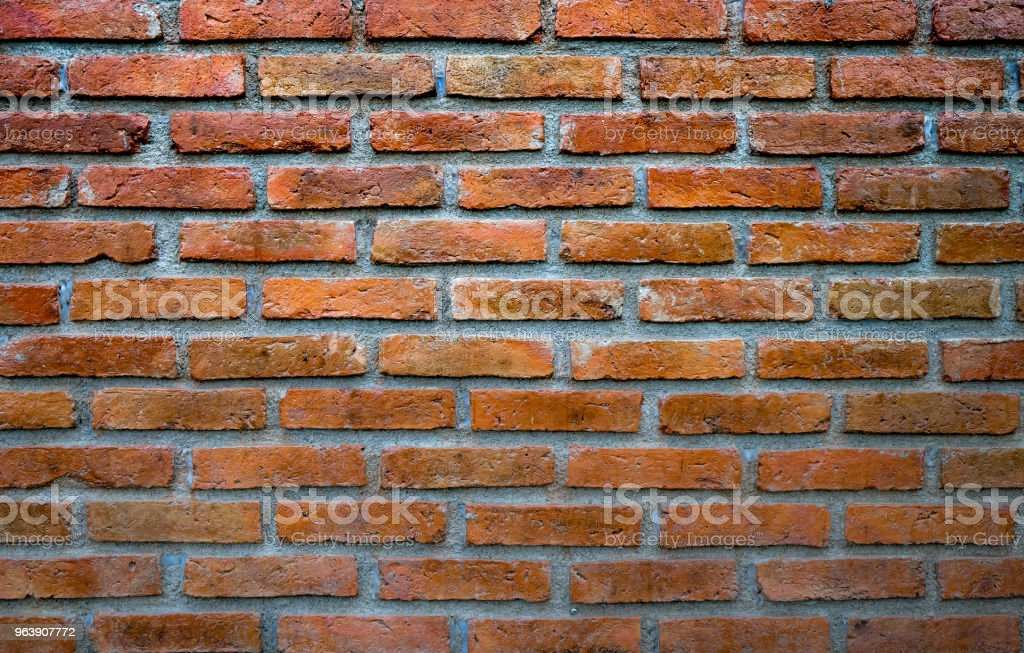 """Red White Wall Background. Retro Grunge Wall and beautifully arranged in rows. And it""""u2019s classic style. - Royalty-free Abstract Stock Photo"""