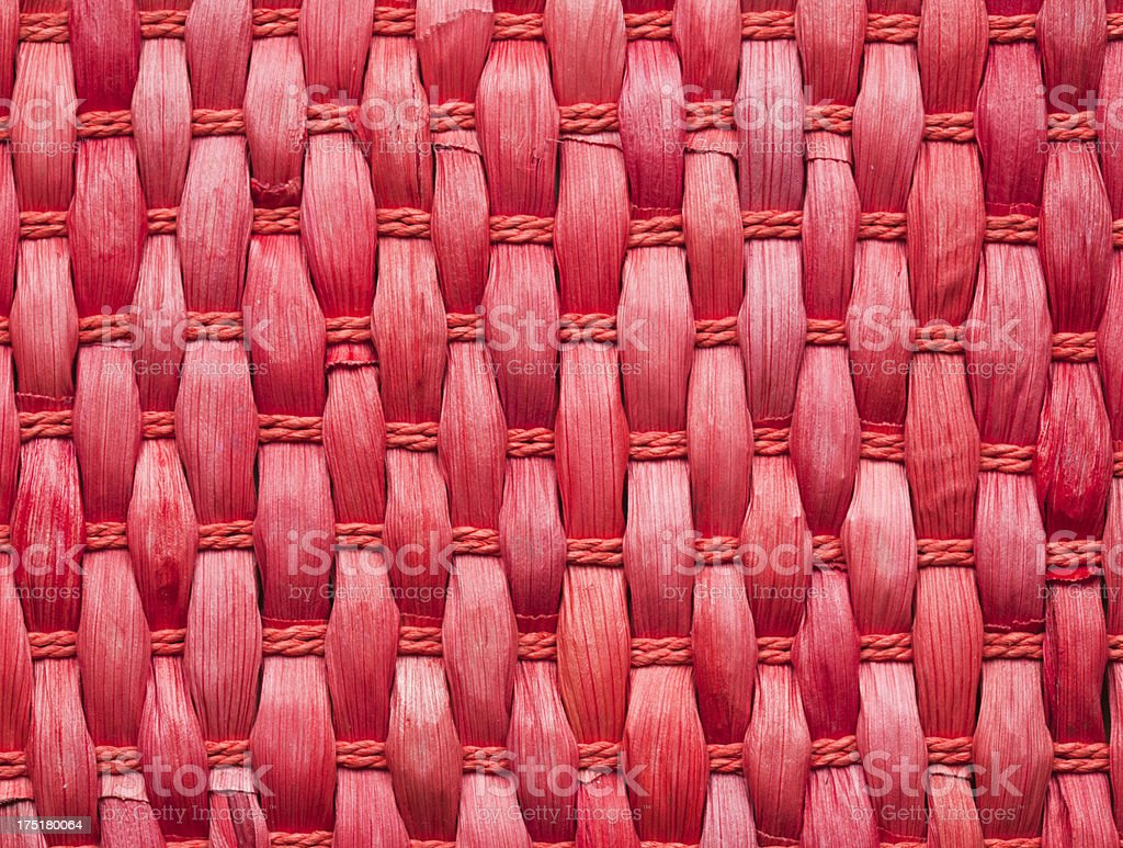 Red Wicker Work Texture royalty-free stock photo