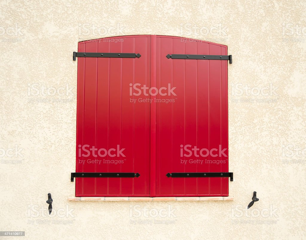 Red Window royalty-free stock photo