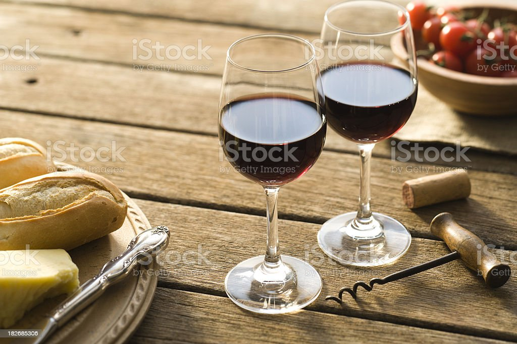 Red Wine Alfresco stock photo
