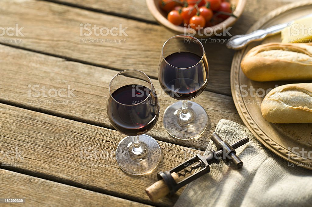 Red Wine Alfresco royalty-free stock photo