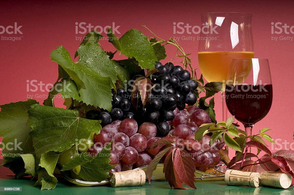 Red wine and grape close-up royalty-free stock photo