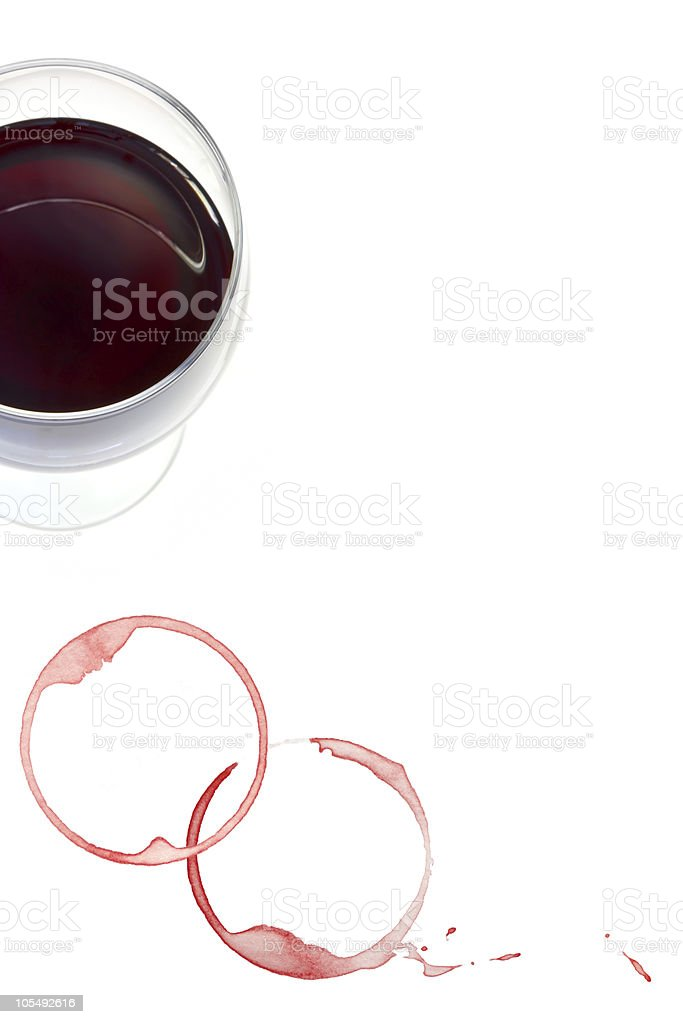 Red Wine and Stains royalty-free stock photo