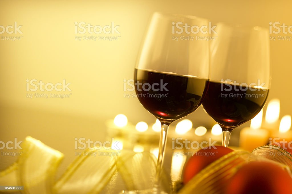 Red Wine at Christmas royalty-free stock photo