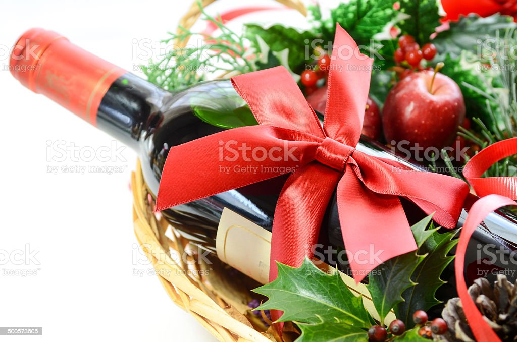 red wine bottle for a party stock photo