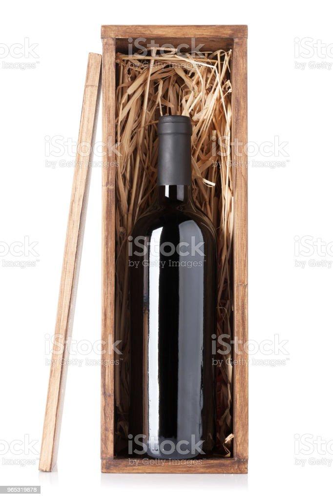 Red wine bottle zbiór zdjęć royalty-free