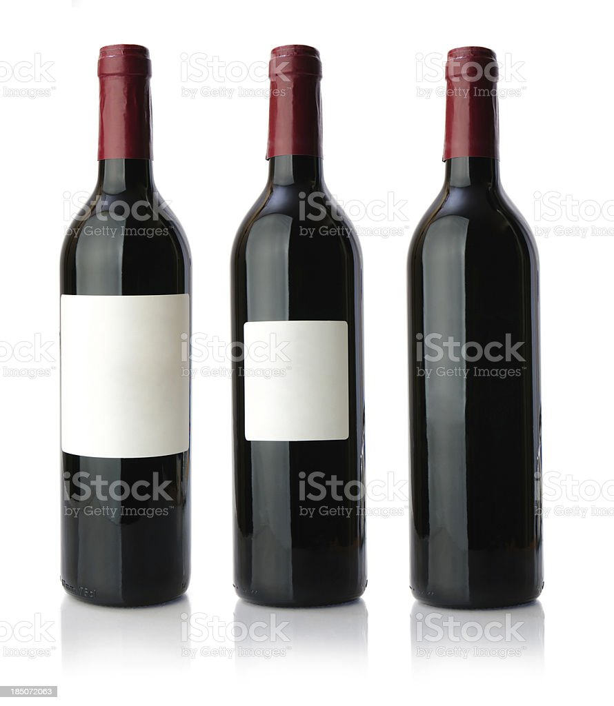 Red wine bottle XXXLarge royalty-free stock photo