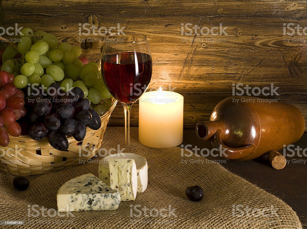 Red wine composition royalty-free stock photo
