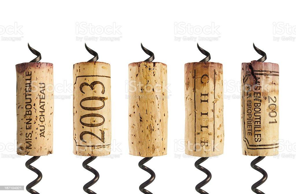 Bouteille de vin rouge sur blanc - Photo