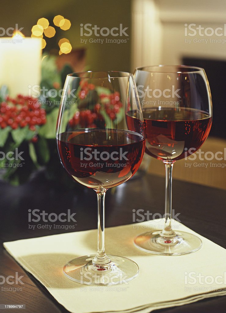 Red Wine Duo royalty-free stock photo